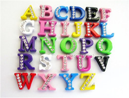 Dia Paintings NZ - 130pcs A-Z 8mm Mixed Color Painting letters Internal Dia.8mm Can through 8mm band Slide Letters DIY Accessories Wholesale price list