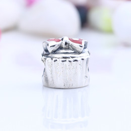 7f473d49d New Real 925 Sterling Silver Not Plated Cake Charms European Charms Beads Fit  Pandora Bracelet DIY Jewelry
