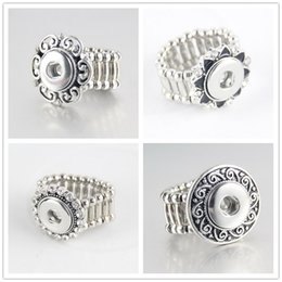 Rope Wedding Rings Canada - DIY Noosa Jewelry for Free Style Fashion Elastic Rope Style DIY Chunk 12mm Snap Button Ring Jewelry Chunk Snap Button