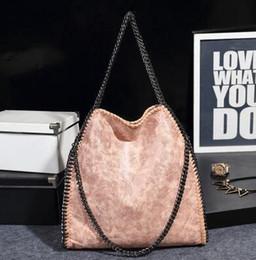 Stella light online shopping - 2017 Fashion Pu Leather Plain Stella handbag Polyester Chains With Chain Portable Shoulder bag bolsas feminina lady tote bags