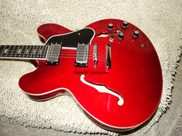 Guitars Electric 335 Red Canada - Custom red 335 Jazz Guitar 335 Electric Guitar High Quality New Arrival guitar