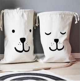 INS Grandi Giocattoli per bambini Borse di stoccaggio Canvas Bear Batman Lavanderia Hanging Drawstring Bag Sacchetto domestico sacchetto Organizzazione di stoccaggio a casa