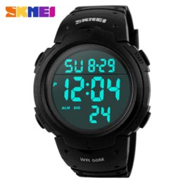 Sports Watches Waterproof Wristwatches Luxury Digital Canada - Skmei Luxury Brand Men Women Sports Watches Digital LED Military Watch Waterproof Outdoor Casual Wristwatches Relogio Masculino