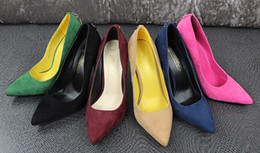Burgundy Wedding Shoes Canada - Brand high heels shoes woman high heel ladies women pumps wedding shoes D buckle high quality