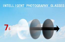 Ingrosso Personalizzato 1,56 HMC Muti- Color PhotoChromic Far / Near-Sight Asperic Resin Occhiali Lenti SV-8 --- + 6 per occhiali da sole prescrizione Spedizione gratuita