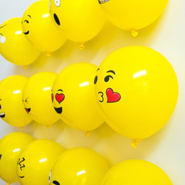 $enCountryForm.capitalKeyWord Canada - 100Pcs  Lot 12Inch Emoji Latex Balloons Ballons Expression Ballon Birthday Party Emoticons Helium Ballon