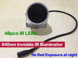 Minyatür CCTV IR aydınlatıcı yok kırmızı pozlama 940nm Görünmez Işık Siyah Işık Izleme F5 48 adet IR Ledler CCTV Kamera indirimde