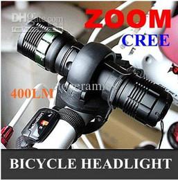 Flashlight Bike Q5 Canada - Q5 400 lumenS LED Aluminium zoomable Cycling Bike Light With 360 Rotation Mount Zoom Flashlight Hold
