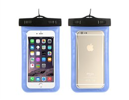 Bag for hot water online shopping - hot sale Universal Clear Luminous Waterproof Pouch PVC Waterproof Bag Underwater Dry Cover For iPhone7 s s plus s Samsung s8 S7 S6 Note5