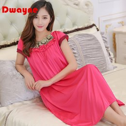 0e3ef51ce2 Sexy Ice Silk Sleepwear Canada - Wholesale- Dwayne XXL summer style pyjamas  skirt Women Female