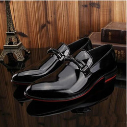 Style Wedding Dresses For Men Canada - Fashion Style Men's Dress Shoes Genuine Leather Casual Luxury Brand Designer Wedding Shoes Men Flats for Male Size 45