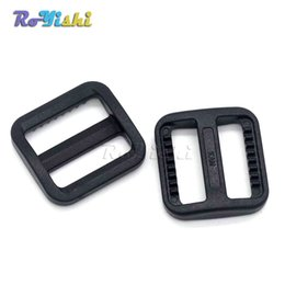 In 10pcs 2 Webbing Plastic Black Tri-glide Slider Adjust Buckles For Outdoor Backpack Strap Garment Webbing Bag Parts Accessories Superior Quality