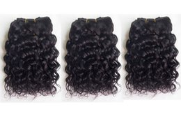 $enCountryForm.capitalKeyWord Canada - Brazilian Remy Human Hair Weave Short Natural Jerry Curly Deep Curly 8inch 3pcs lot Black Color 100% Human Hair Extension
