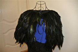 57ff221c804 Black feather cape feather jacket rooster feather cape 5 ply Carnival  feather shoulder shrug Shawl cape
