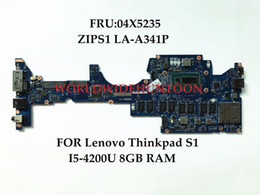 China Original laptop Motherboard for Lenovo Thinkpad S1 FRU:04X5235 ZIPS1 LA-A341P SR170 I5-4210U 8GB RAM 100% Fully Tested suppliers