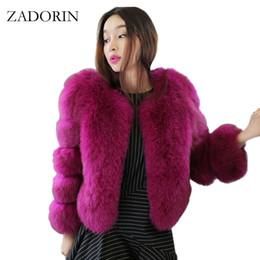 eeab406a5a720 ZADORIN Thick Warm Faux Fur Coat 2017 Winter Jacket Women Luxury Fur Coat  High Quality FAUX Fur Jacket Short Fake Overcoat q171137