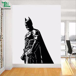 Ingrosso Batman Wall Sticker per bambini Boy Room Vinyl Decal The Dark Knight Supereroe Atr Home Decor Decorazione soggiorno Murale 56 * 80 cm