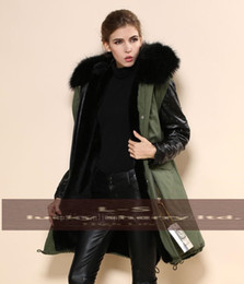 Discount Green Parka Leather Sleeves | 2017 Green Parka Coat ...
