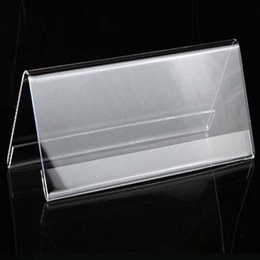 Shop acrylic name display uk acrylic name display free delivery to 4pcs high quality 1020cm v triangle acrylic name card label holder conference seat name sign display stand table reheart Image collections