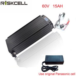 Cell Lithium Ion Battery Canada - Rear Rack Style Electric Bicycle Battery 60V 15Ah 2000w Lithium ion Battery with Power lights+Tail lights For Panasonic cell