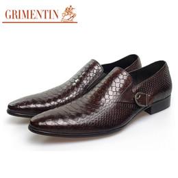 Grimentin Shoes UK - GRIMENTIN Hot sale Italian fashion formal men dress shoes crocodile grain buckle man oxford shoes genuine leather business wedding men shoes