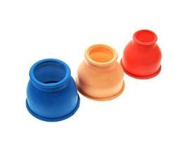 Ingrosso Manicotto della ciambella di ricambio morbido estensibile di 3 pezzi per cilindro per vuoto per pompa del pene