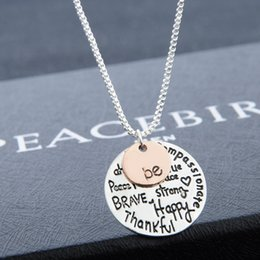 Wholesale 2016 New quot Be quot Graffiti Friend Brave Happy Strong Thankfull Charm Pendant Necklaces Jewelry Women