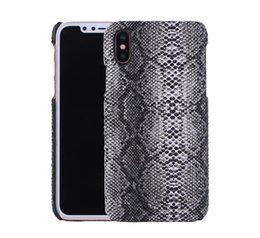 Snake pu leather caSe online shopping - PU Leather Carbon Fiber Snake Wooden Braid Pattern Case for iPhone X S Plus PC Full Protective Cover OPP Aicoo