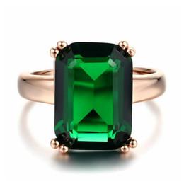 Nickel Cadmium Plate Australia - Stylish ol 18K Rose Gold Plated square green crystal No nickel no lead no cadmium R700