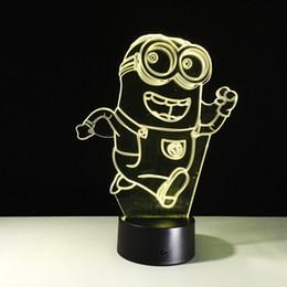 $enCountryForm.capitalKeyWord NZ - Running Minions 3D Illusion LED Night Lamp 3D Optical Table Lamp Battery DC 5V Factory Wholesale