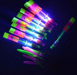 $enCountryForm.capitalKeyWord NZ - Novelty Children Toys Amazing LED Flying Arrow Helicopter for Sports Funny Slingshot Birthday Party Supplies Kids' Gift