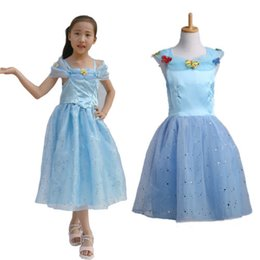 $enCountryForm.capitalKeyWord Canada - party girls dress Baby Girls Princess Movies Cinderella Costume vestidos children one-piece dresses girls clothing butterfly print blue tops