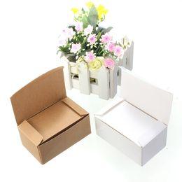 $enCountryForm.capitalKeyWord UK - TBao03 Kraft Paper Card 100pcs lot 90*54mm Message Memo Wedding Party Gift Thank You Cards Label Bookmarks Papel Kraft Blanco Brown White