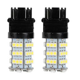 Car Led Side UK - 10Pcs LED Car Light Bulb 3157 54Smd 3528 12V White LED Bulb DRL Daytime Running Turn Signals Backup Reverse Light Universal LED Lamp