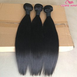 Remy Human Straight Hair Bundles Canada - TOP Grade 8A virgin Hair Weaving straight 3 pcs lot brazilian indian Dyeable best remy Human Hair bundles weave weft Free DHL
