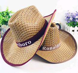 Straw sun Hat cowboy men and women outdoor cap fashion cool tourists travel  Halloween Western Cowboy hats 9acdb99cb32
