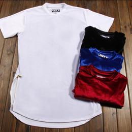 $enCountryForm.capitalKeyWord Canada - Kanye Elongated Oversized Extended Velour Velvet T Shirt Outfit Hip Hop Dancer Swag Streetwear Hipster T Shirts shorts For Women Men US SIZE