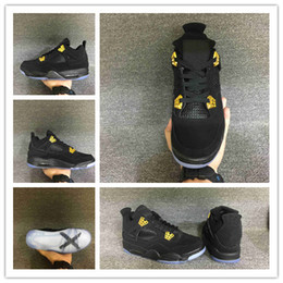 $enCountryForm.capitalKeyWord NZ - with box 4 IV Black Suede gold 4s Banned Glow In The Dark men basketball shoes sport sneakers wholesale 1 8-13