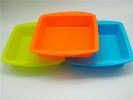 Best dishes online shopping - Best selling square Pan Non Stick Silicone Container Concentrate Oil BHO dish