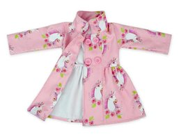 Taille Trench Coat Filles Pas Cher-New Girl Jacket Autumn Winter Unicorn Outwear Mode Enfants Floral Windbreaker 1 lot = 1 Couleur = 1 taille = 6 pièces