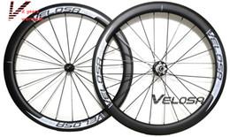 Light Weight Bikes Canada - Velosa supre sprint 50 bike carbon wheelset, 50mm clincher tubular ,light weight 700C road bike wheel,1310g