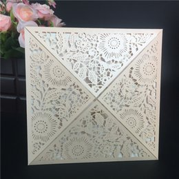8 Color Laser Cut Wedding Invitations Cards With Rhinestone Blush Light Pink Flowers Engagement For Marriage