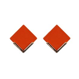 $enCountryForm.capitalKeyWord UK - Ms. new fashion earrings square painting 100% environmentally friendly zinc alloy 1pair   lot lot drop shipping