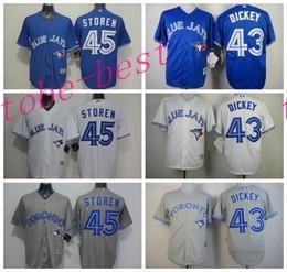 toronto blue jays jerseys baseball cheap 43 r.a. dickey 45 dalton pompey jersey cool base fashion .