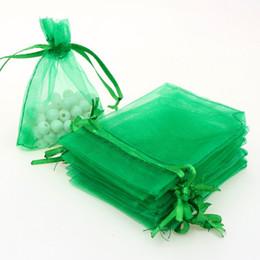 46c2996d9 7x9cm Bolsas de regalo de la joyería de organza verde Bolsas de organza  baratos Bolsas de cordón pequeñas Customed Logo impreso 500pcs / lot al por  mayor