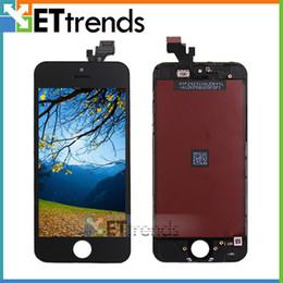 Großhandel Für iPhone 5G 5S 5C LCD-Touchscreen-Touchscreen-Vollmontage mit Hörmuschel Anti-Staub-Masche installiert Grad AAA ohne tote Pixel AA0001