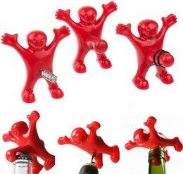 Fun plug online shopping - Funny Character Modeling Bottle Opener Beer Wine Opener Vacuum Wine Stopper Plug Styles Bars Family Fun Open Bottle Tools
