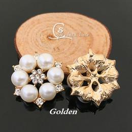 $enCountryForm.capitalKeyWord NZ - 28mm Golden Rhinestone Button Diamond -Glitter Crystal Jewelry Center Flower Fashion headbands Children Headwear 20pcs  Lot