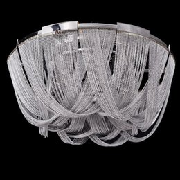 new classic rear modern ceiling lamp luxury aluminum chain chandelier lighting