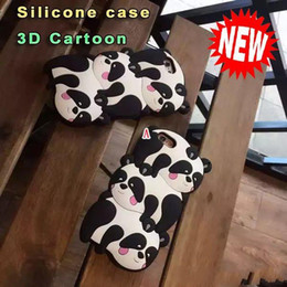 $enCountryForm.capitalKeyWord Australia - 3D Panda silicone case For Iphone 6 6S Plus 4.7 5.5 Inch SE 5 5S Cartoon Silicone GEL Soft Case Bear Cute Animal National treasure Skin Cell